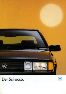 VW Scirocco Prospekt 1990
