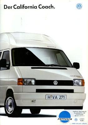 VW T 4 California Coach Prospekt 1995