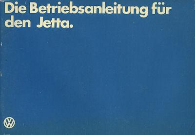 VW Jetta Bedienungsanleitung 1980