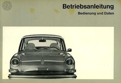 VW 1600 Bedienungsanleitung Teil 1 8.1972
