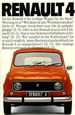Renault 4 Prospekt ca. 1976