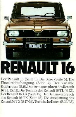 Renault 16 Prospekt ca. 1976