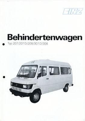 Mercedes-Benz Binz Behindertenwagen Prospekt 1970er Jahre