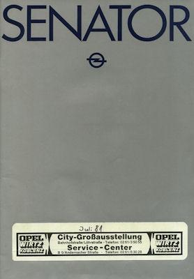 Opel Senator Prospekt 1980