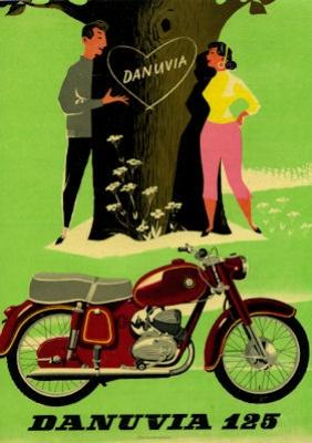 Pannonia Danuvia 125 ccm Prospekt 1960er Jahre