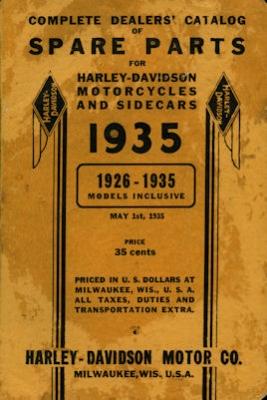 Harley-Davidson Ersatzteilliste 1926-1935 0