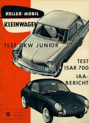 Rollerei und Mobil / Roller Mobil Kleinwagen 1959 Heft 10