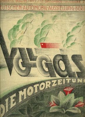 Vollgas Die Motor Zeitung 12.12.1924 Nr. 7