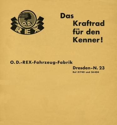 OD Programm ca. 1933