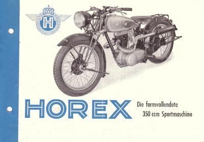 Horex SB 35 Prospekt ca. 1949