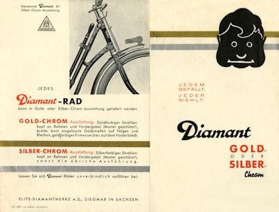 Diamant Fahrrad Prospekt ca. 1936