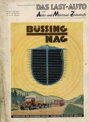 Last-Auto und Auto+Motorrad Zeitschrift Heft 5 1943
