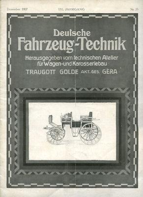 Deutsche Fahrzeug-Technik 1927 Heft 23