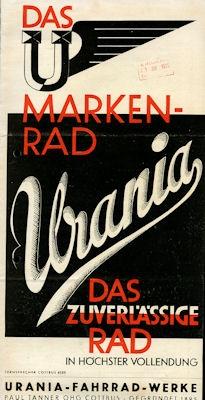 Urania Fahrrad Prospekt 1935