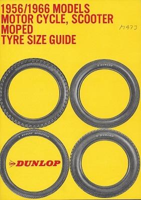 Dunlop Motorrad Reifen Katalog 1966