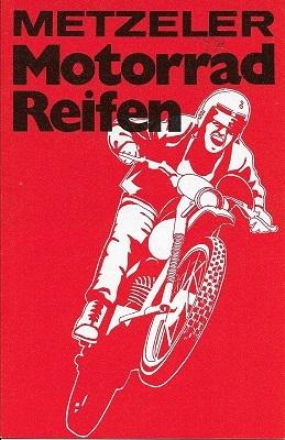 Metzler Motorrad Reifen Prospekt 1972
