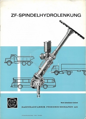 ZF Spindelhydrolenkung Prospekt ca. 1963