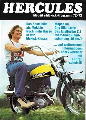 Hercules Moped & Mokick Programm 1972/1973 oder 1973