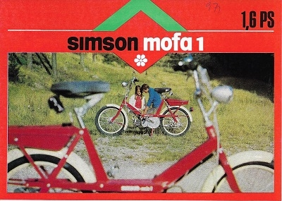 Simson Mofa 1 Prospekt 1970