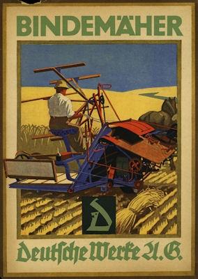 Deutsche Werke AG Bindemäher Prospekt 1924