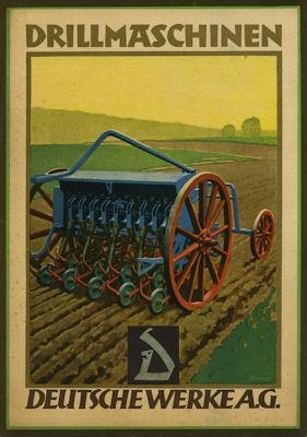 Deutsche Werke AG Drillmaschinen Prospekt 1925