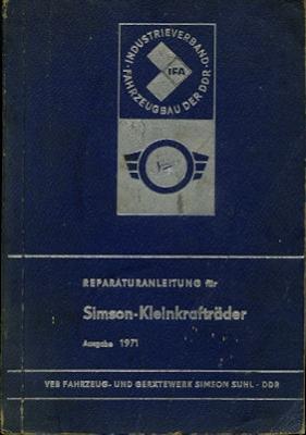 Simson Reparaturanleitung für Kleinkrafträder 1971