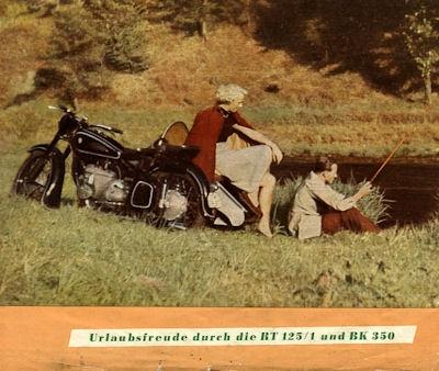 IFA RT 125/1 und IFA BK 350 Prospekt 1953