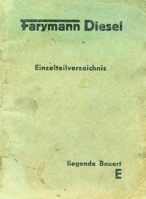 Farymann Diesel Ersatzteilliste 1956