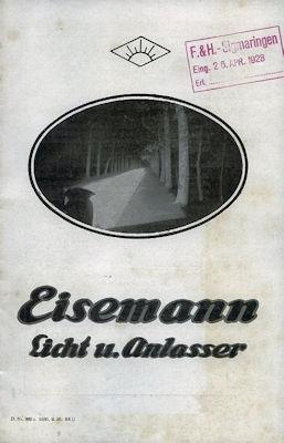 Eisemann Licht u. Anlasser 9.1926