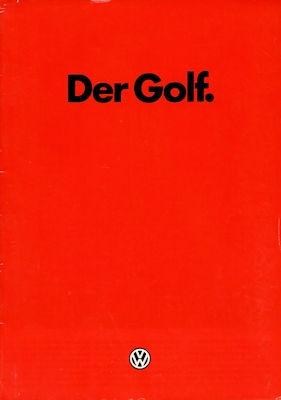 VW Golf 2 Prospekt 8.1984