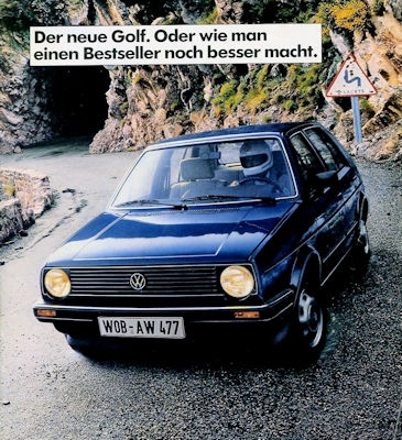 VW Golf 2 Prospekt 8.1983