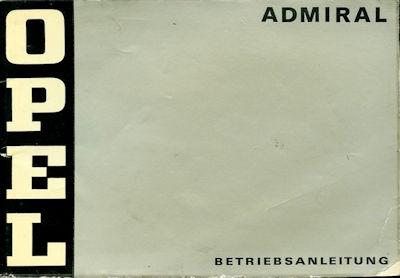 Opel Admiral Bedienungsanleitung 3.1973