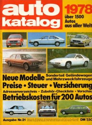 Auto Katalog 1978 Nr.21