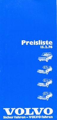 Volvo Preisliste 2.1976