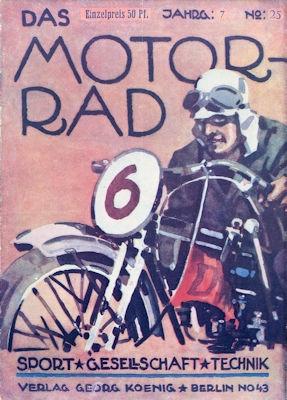 Das Motorrad 1927 Heft 25