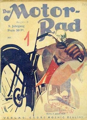 Das Motorrad 1929 Heft 1