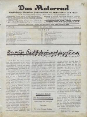Das Motorrad 1928 Heft 9