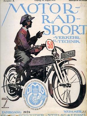Motorrad Verkehr Sport und Technik 1928 Heft 33