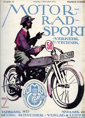 Motorrad Verkehr Sport und Technik 1927 Heft 49