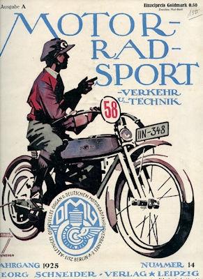 Motorrad Verkehr Sport und Technik 1925 Heft 14