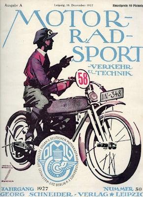 Motorrad Verkehr Sport und Technik 1927 Heft 50