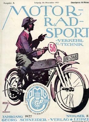 Motorrad Verkehr Sport und Technik 1927 Heft 52