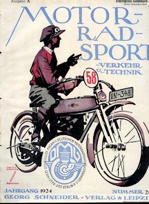 Motorrad Verkehr Sport und Technik 1924 Heft 28