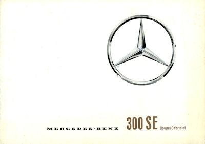 Mercedes-Benz 300 SE Coupe / Cabriolet Prospekt 2.1962 Reprint