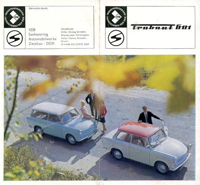 Trabant 601 Prospekt 1970
