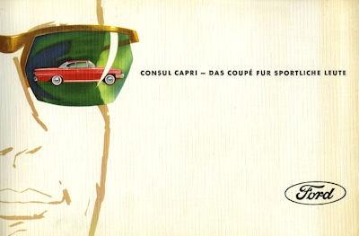 Ford Consul Capri Prospekt ca. 1963