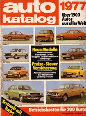 Auto Katalog 1977 Nr.20