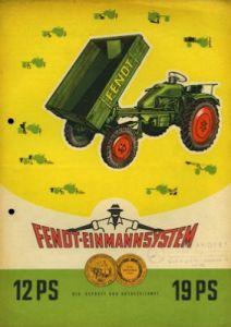 Fendt Kleinschlepper Prospekt 1956