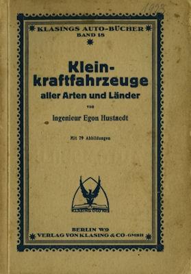 Klasings Auto-Bücher Kleinkraftfahrzeuge Bd. 18 ca. 1923