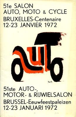 Katalog 51. Salon Auto Moto Cycle Bruxelles 1972